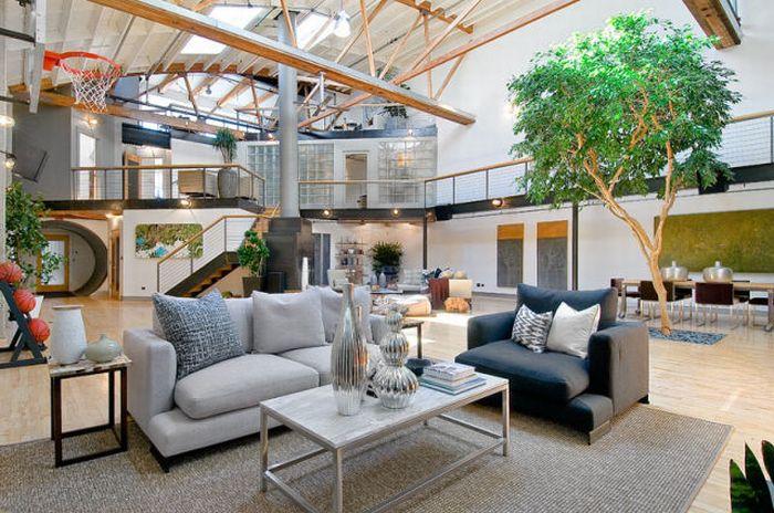 Стиль Лофт, квартира в Сан-Франциско (40 фото)