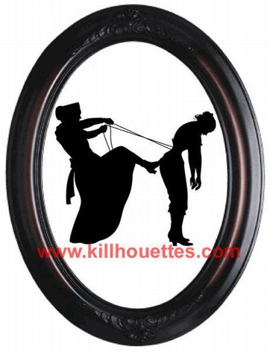 Вырезанные убийственные силуэты (39 фото)