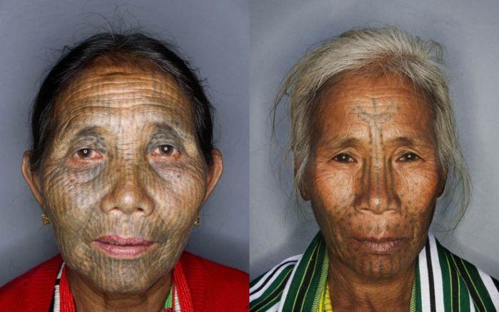 Татуировки на лицах (14 фото)