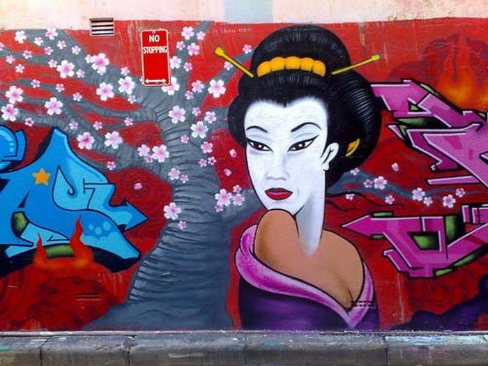 Удивительные граффити (50 фото)