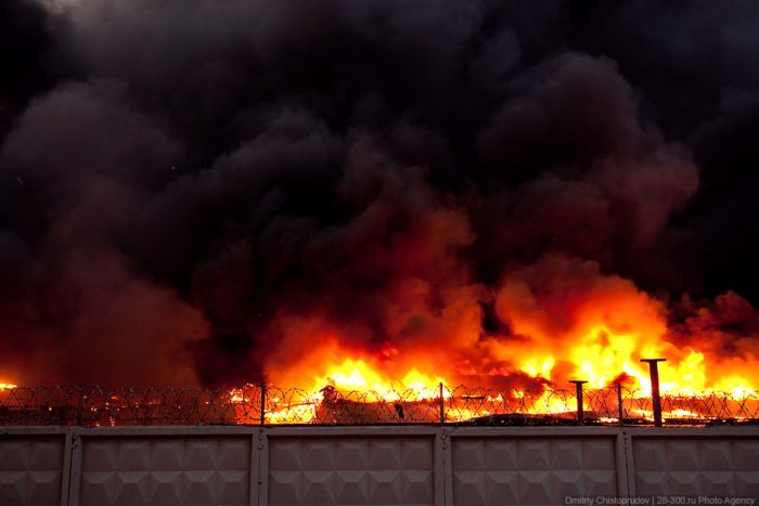 Страшный пожар в Москве (57 фото)