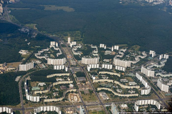 Москва из иллюминатора самолета (18 фото)