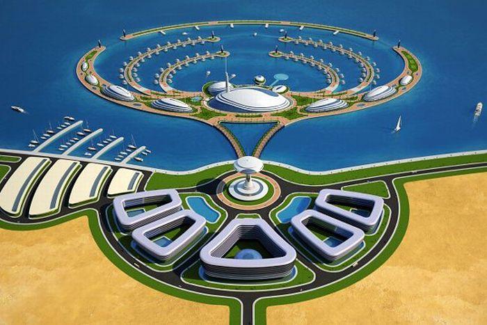 """Курорт """"Амфибия 1000"""" в Катаре (11 фото)"""