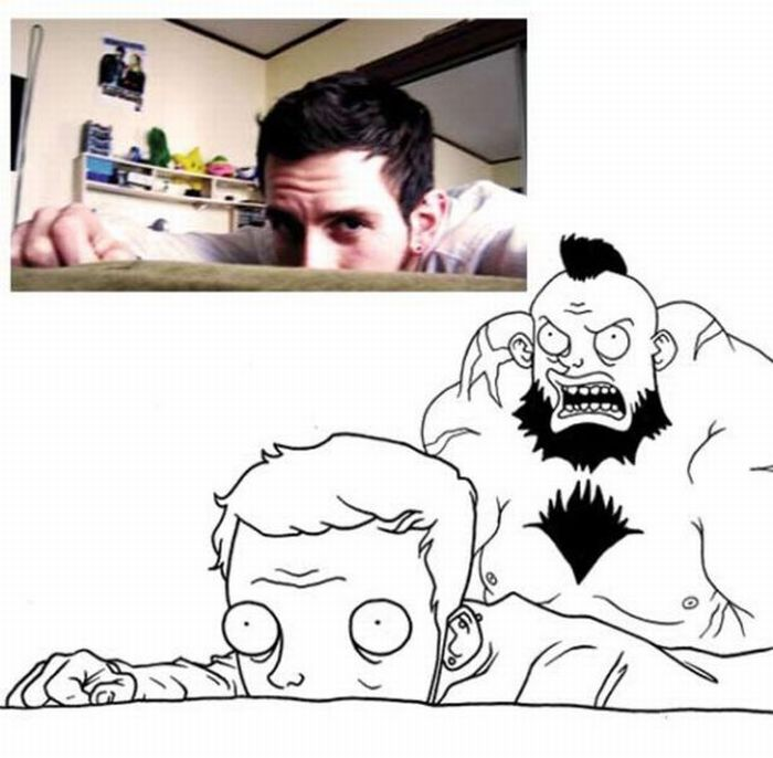 Зарисовки людей из Facebook (18 фото)
