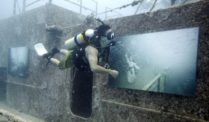 Подводная выставка в Австралии (8 фото)
