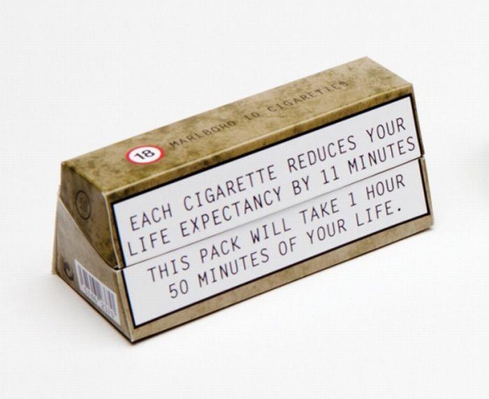 Ужасающий дизайн сигаретных пачек (5 фото)