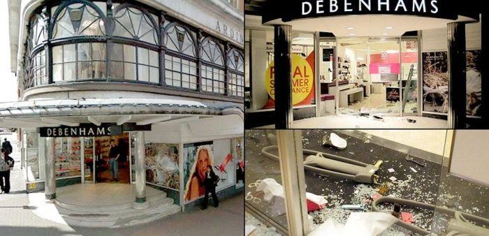 Лондон до и после погромов (6 фото)