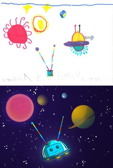 Детские рисунки глазами художника (22 фото)