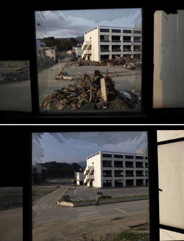 Япония восстанавливается после землетрясения (12 фото)