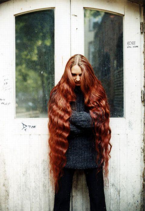 Девушки с длинными волосами. Часть 2 (58 фото)