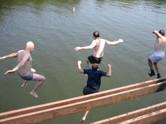 Прыжки с моста (20 фото)