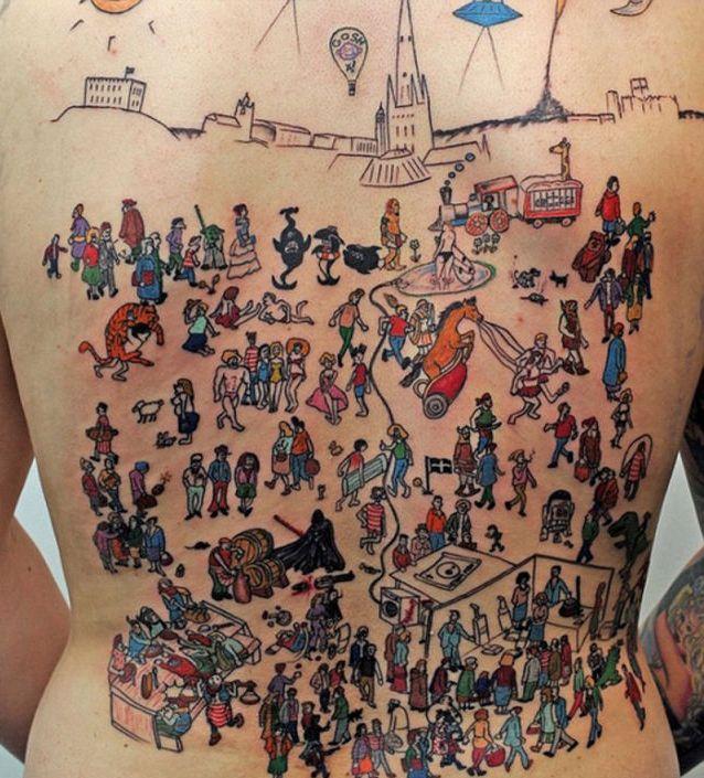 Татуировка на всю спину (3 фото)