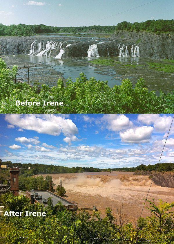 До и после урагана Ирэн (17 фото)
