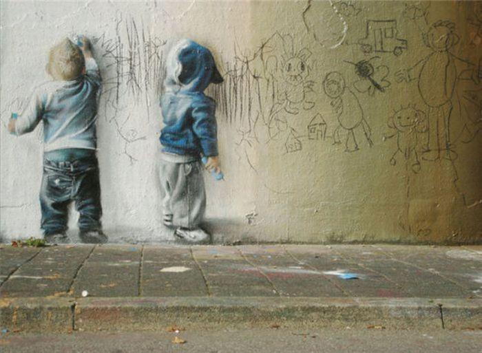 Самые крутые уличные рисунки (95 фото)