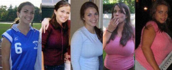 Девушки, которые потолстели (17 фото)