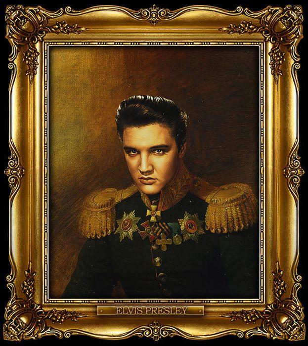 Звезды в форме русских генералов (22 картины)