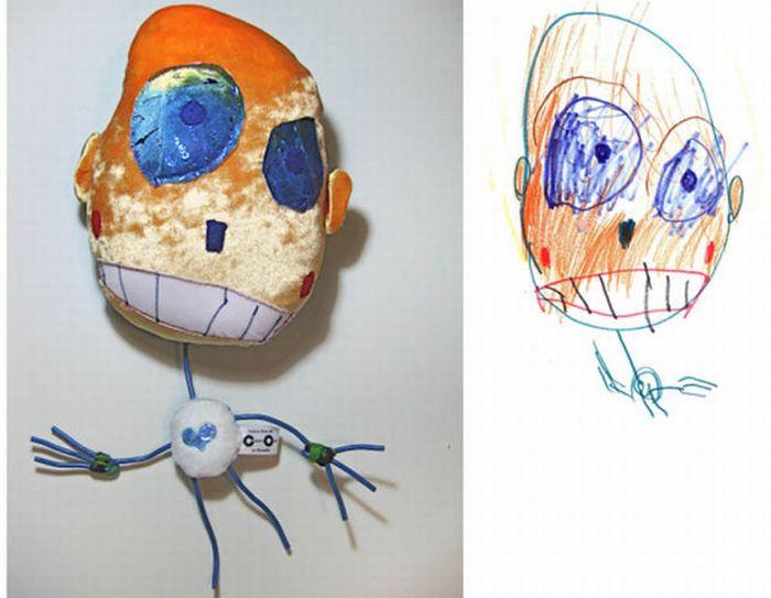 Рисунки детей, воплощенные в жизнь (18 фото)