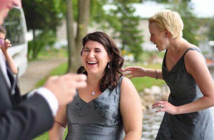 Неудачный свадебный снимок (13 фото)