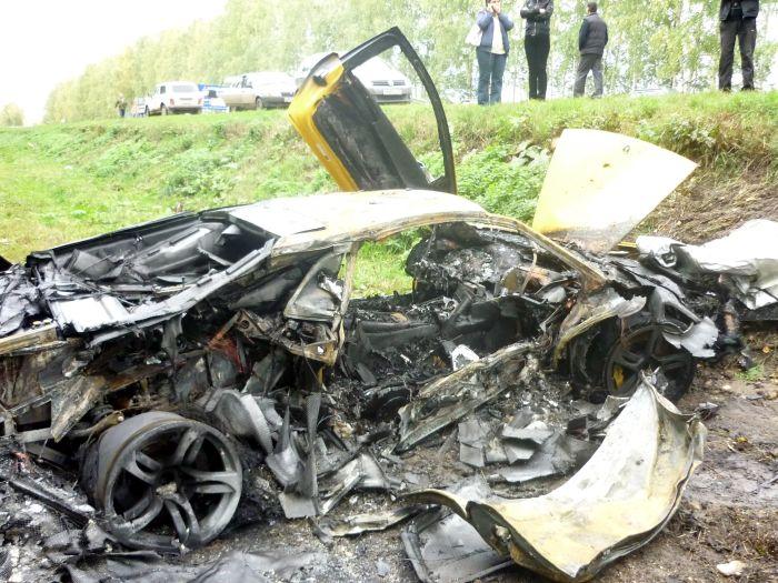 Авария с участием Lamborghini и Chevrolet (5 фото)