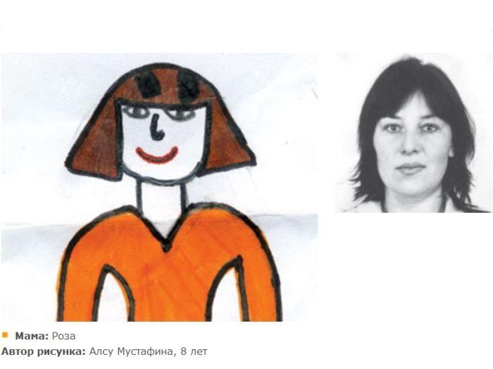 Дети рисуют своих мам (72 картинки)