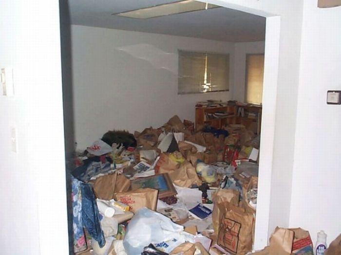 Грязные квартиры и дома США (25 фото)