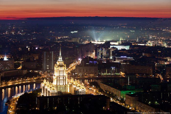 Рассвет над Москвой (42 фото)