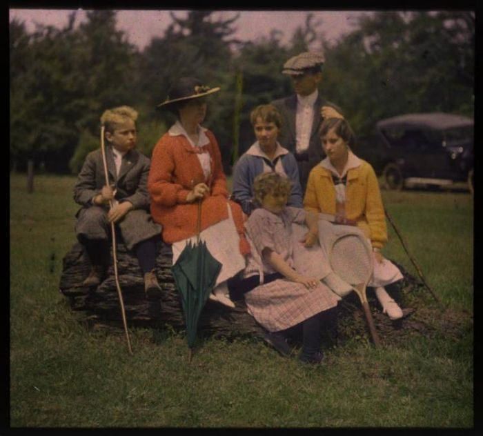 Цветная фотография братьев Люмьер (37 фото)