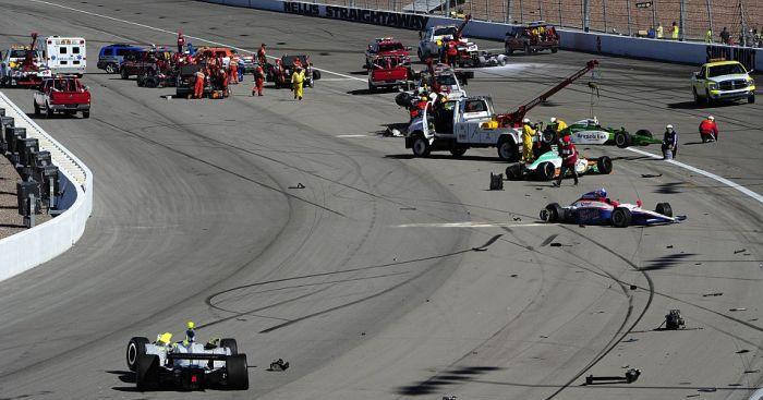 Гибель пилота на гонках в Лас-Вегасе (21 фото + видео)