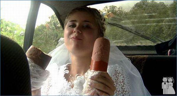 Странные и смешные свадебные фотографии (58 фото)