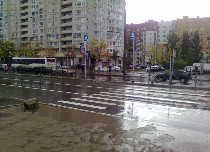 Пешеходный переход с препятствиями (7 фото)