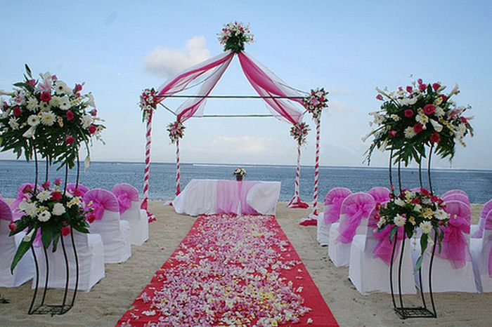 Красивые места для свадебных церемоний.  Смотрите и завидуйте.