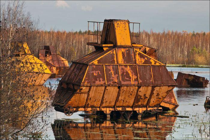 Заброшенные торфяники в Московской области (30 фото)