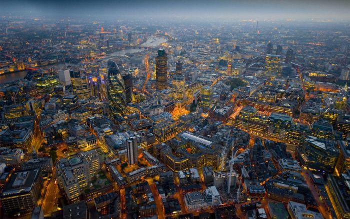 Лондон с высоты птичьего полета (27 фото)