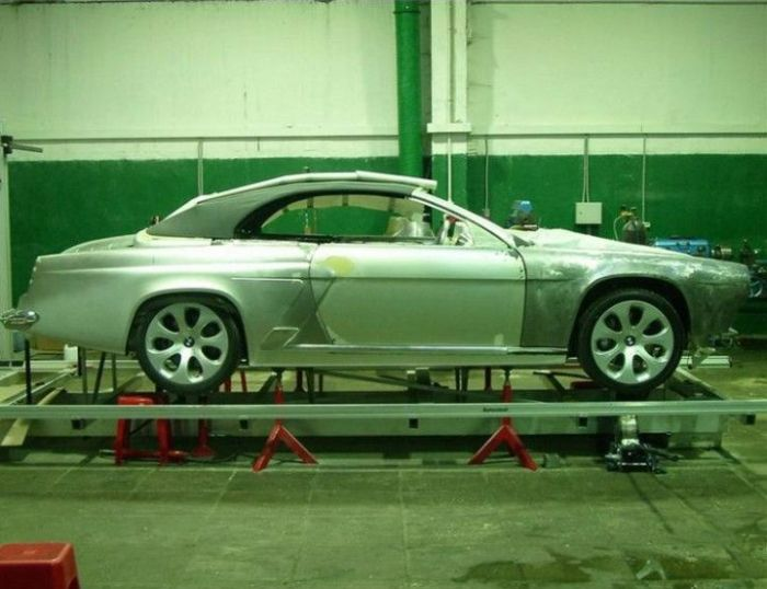 Перевоплощение BMW в отечественный кабриолет (13 фото)