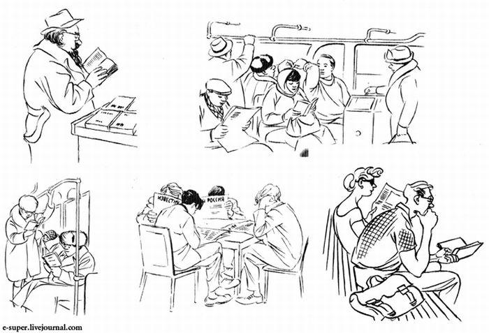 СССР глазами иностранного карикатуриста (36 картинок)