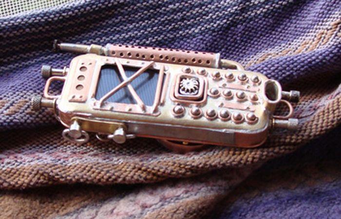 Телефоны в стиле стимпанк (27 фото)