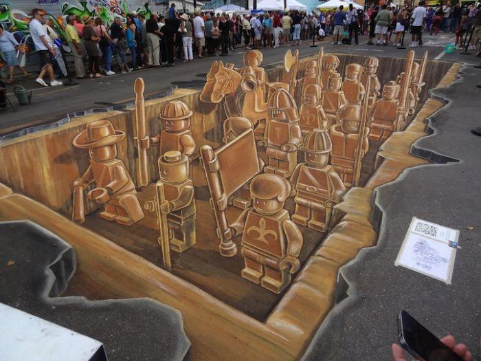 Как создают 3D рисунок (7 фото)