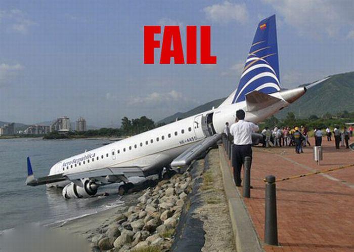 Неудачные приземления (23 фото)