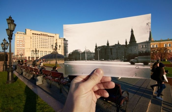Современная и старая Москва (15 фото)