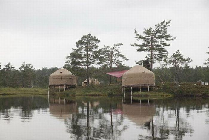 Норвежский отель-юрта (20 фото)
