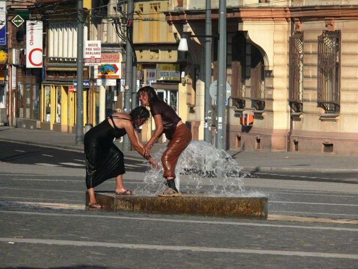 Чешские улицы пьяная