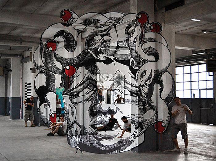 Иллюзия граффити (6 фото)