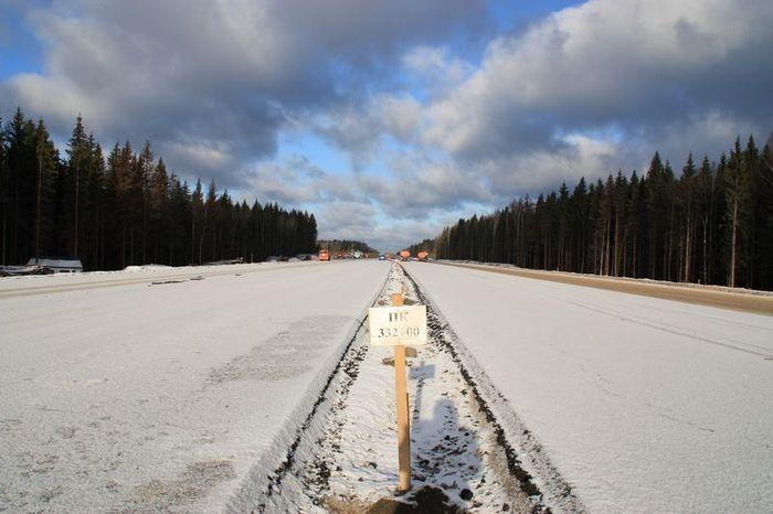 Строительство автодороги Москва – Санкт-Петербург (34 фото)