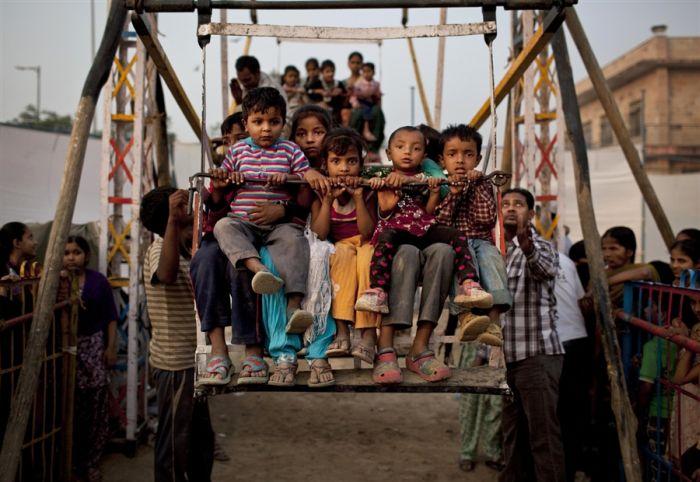Колесо обозрения в Нью-Дели (4 фото)