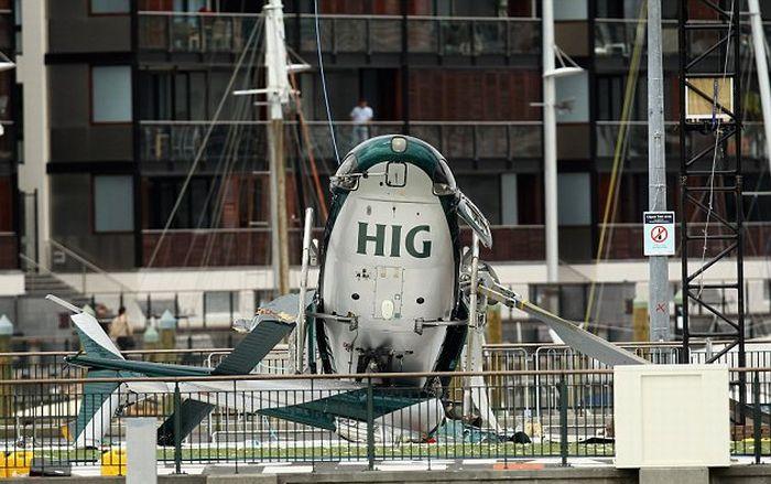 Крушение вертолета (7 фото + видео)