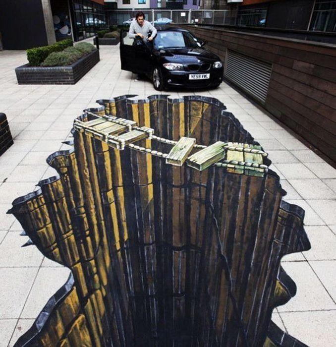 Рекордный 3D-рисунок вЛондоне (18 фото)