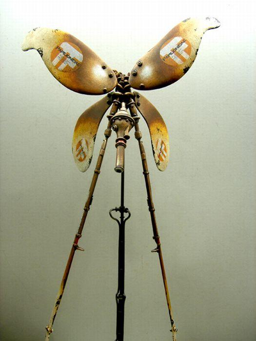 Классные стимпанк скульптуры (49 фото)