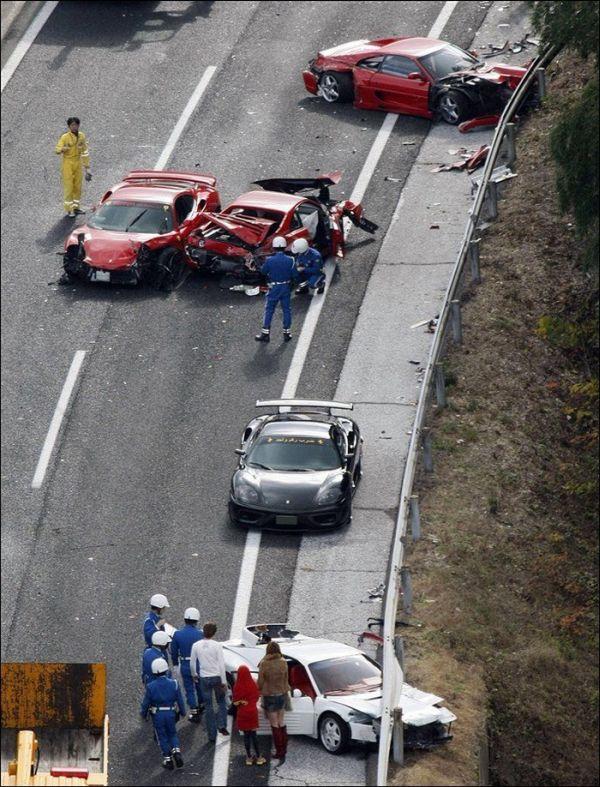 Авария по-японски (10 фото + видео)