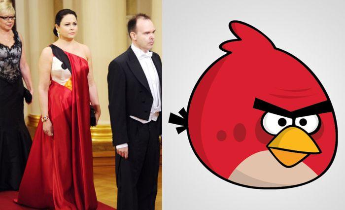 Платье в стиле Angry Birds (4 фото)