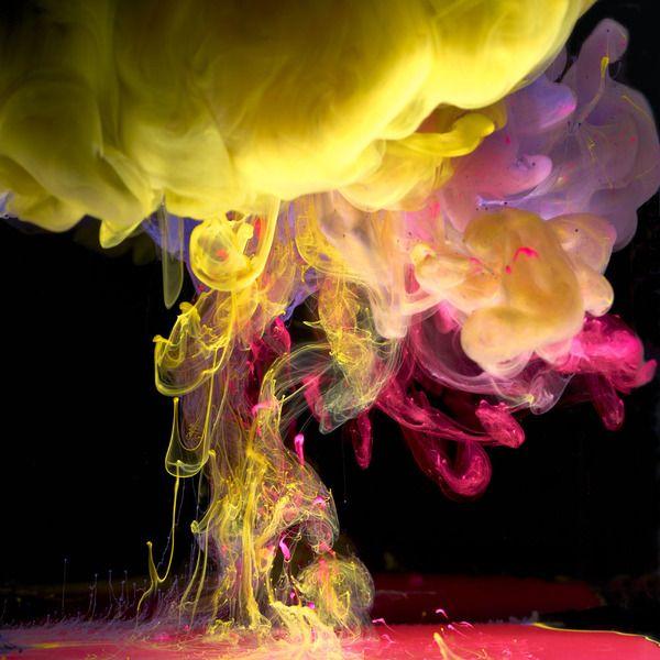 Вода и краски (14 фото)